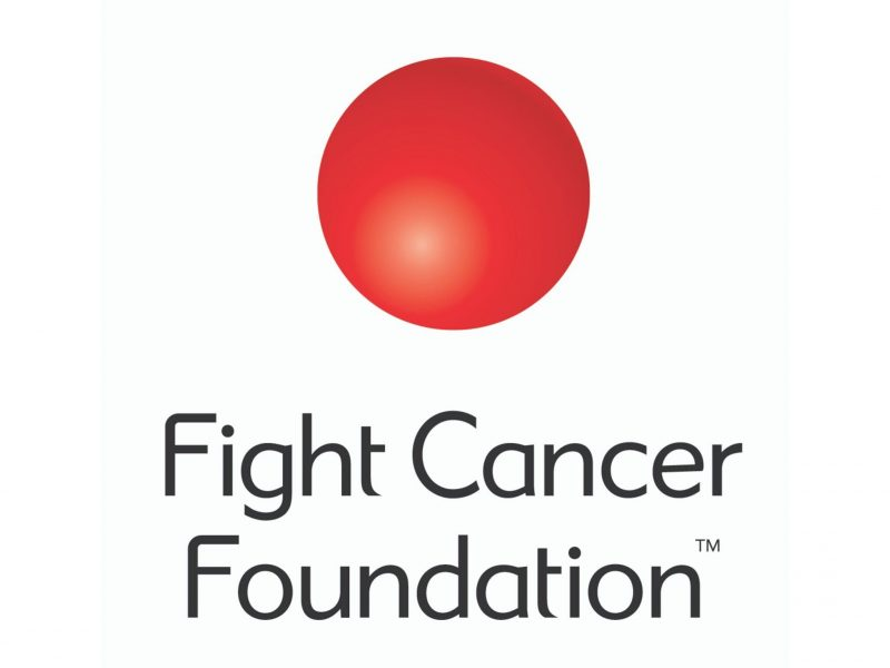 Fight Cancer Foundation logo red circle on white background