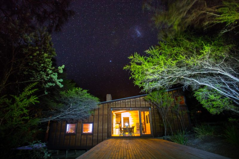 Under the stars at Friendly Beaches Lodge