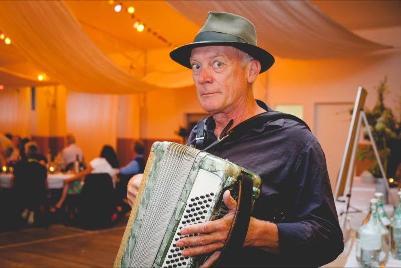 Sandro Donati and his accordian