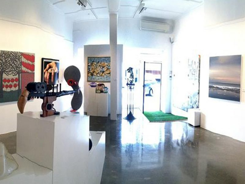 Interior of front gallery at Gallery Pejean