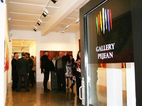 Opening night at Gallery Pejean