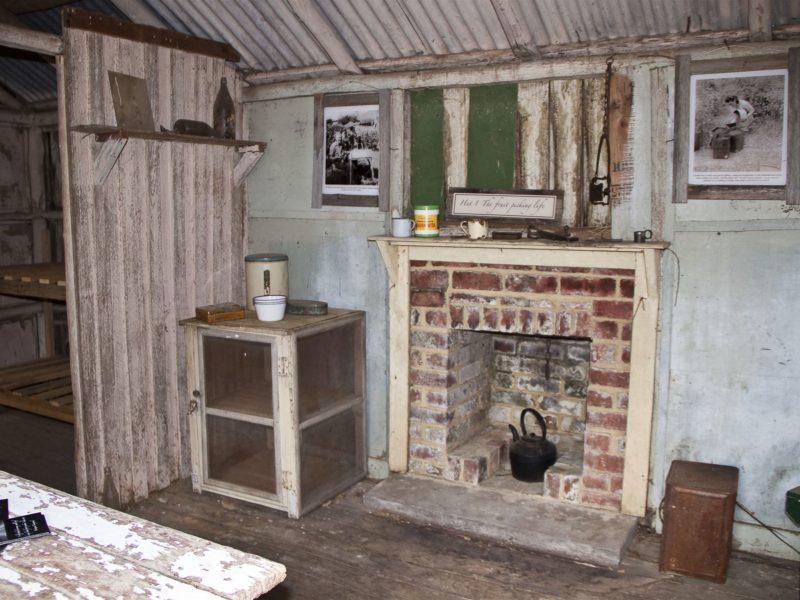 Interior of Pickers Hut