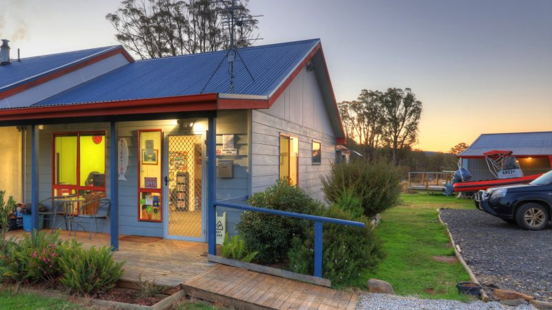Reception Office for check-in and key collection at Highland Cabins and Cottages at Bronte Park