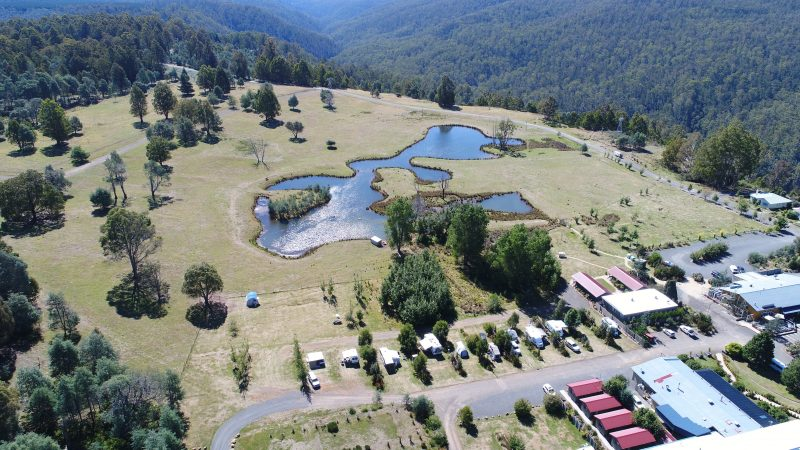 Aerial Shot of Campground