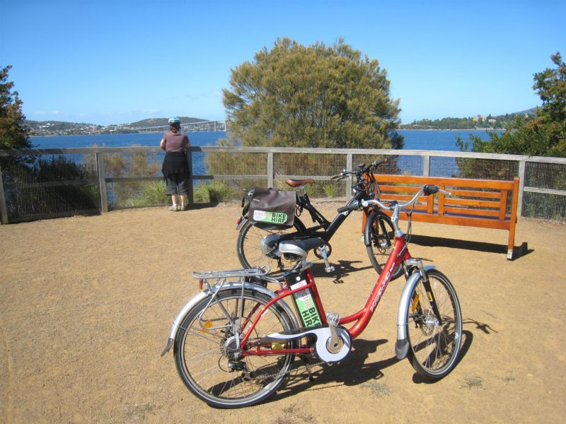 Electric bicycle at Cornelian Bay Hobart