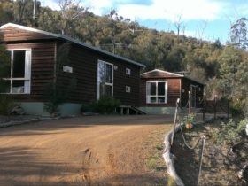 This is a photo of 2 of the cabins, there are 6 in total