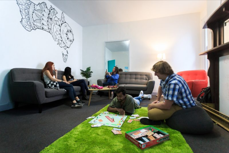 Hobart Central YHA Lounge Room