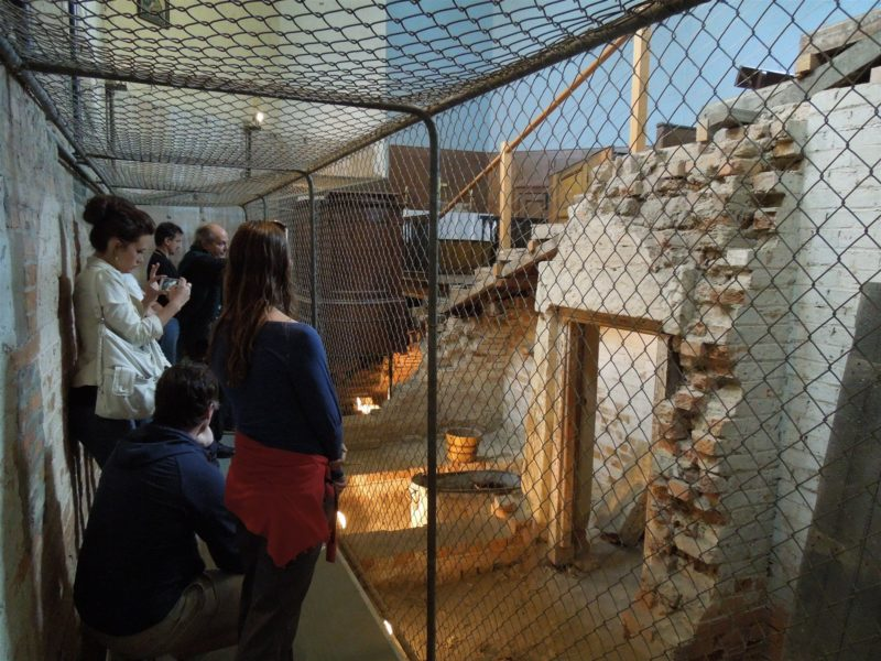 Solitary convict cells under chapel