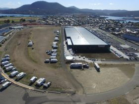Aerial shot inc Bunnings