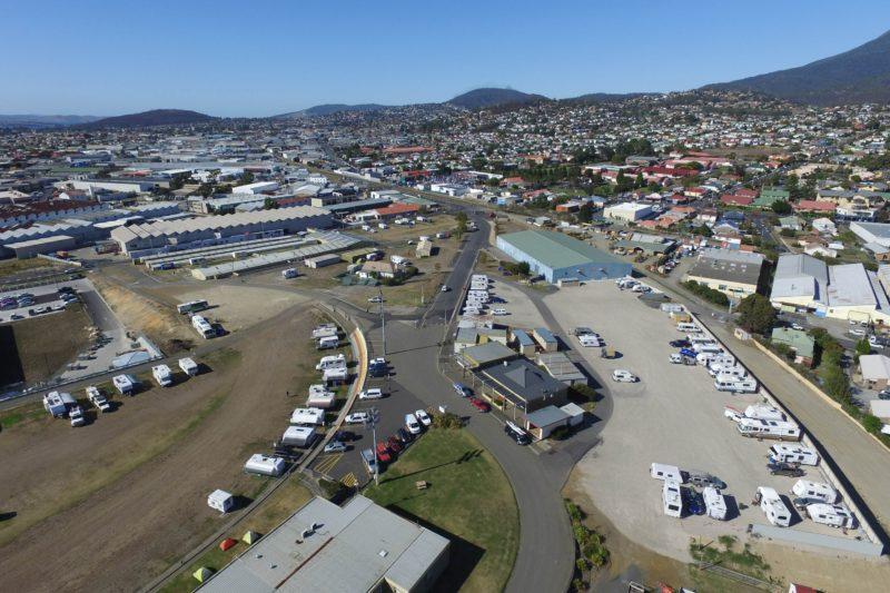 Aerial shot of main site