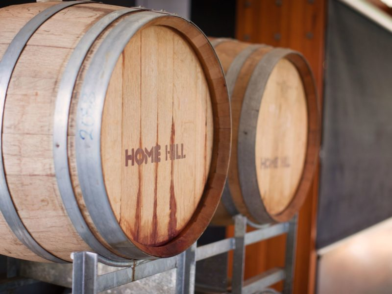 Home Hill wine barrels
