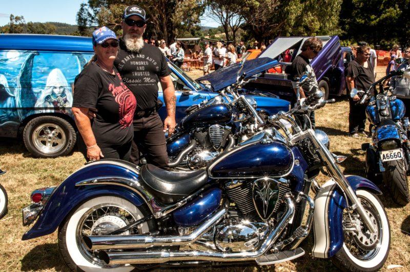 Motorcycles and panel van