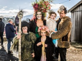 Family dress ups at Huon Valley Mid-Winter Fest