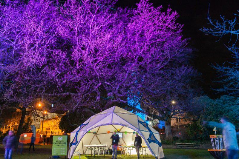 Junction Arts Festival, Festival, Tent, Art Project, Paul Gazolla, Frisbee Project
