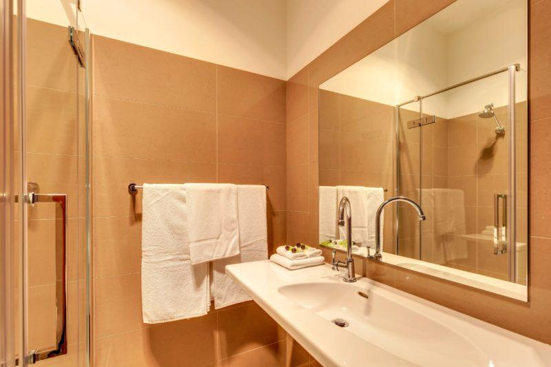 Renovated bathroom at the Kermandie Waterfront Hotel, Port Huon