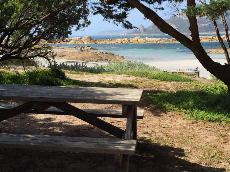 Killiecrankie Beach picnic area Flinders Island Tasmania
