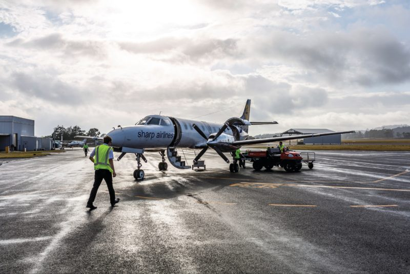 Sharp Airlines at King Island Airport