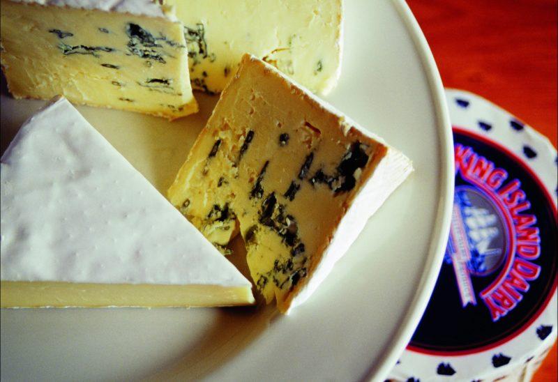 Award winning cheeses at King Island Dairy