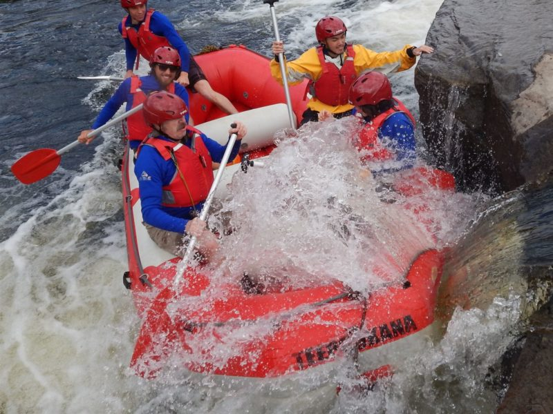 Rafting fun near Plenty, Derwent River