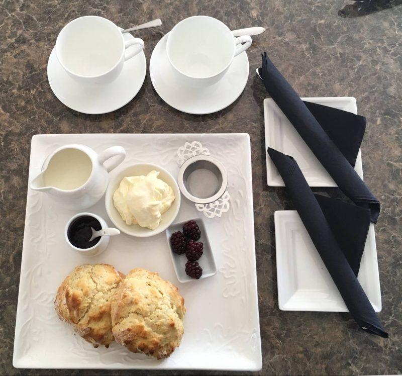 Tea and scones freshly baked at Kings Fine Art Gallery