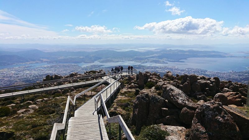 Spectacular views from the lookout at The Pinnacle, kunanyi/Mt Wellington