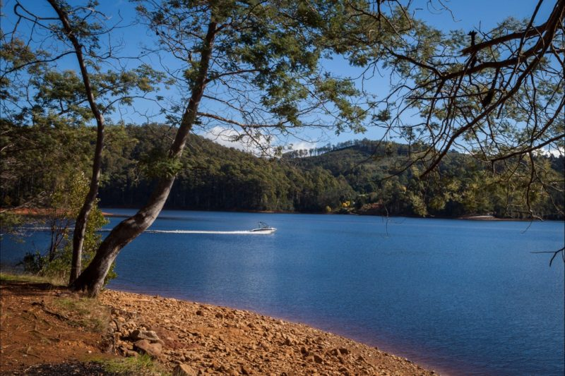 Lake Barrington is a great place for fishing, boating and camping