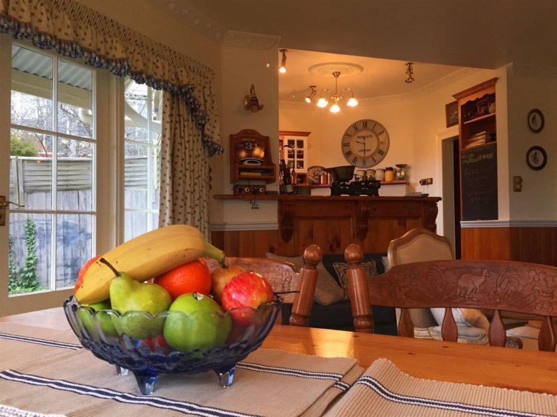 Open family dining/ living