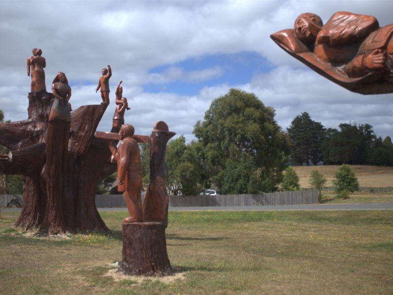 Legerwood Carved Memorial Trees