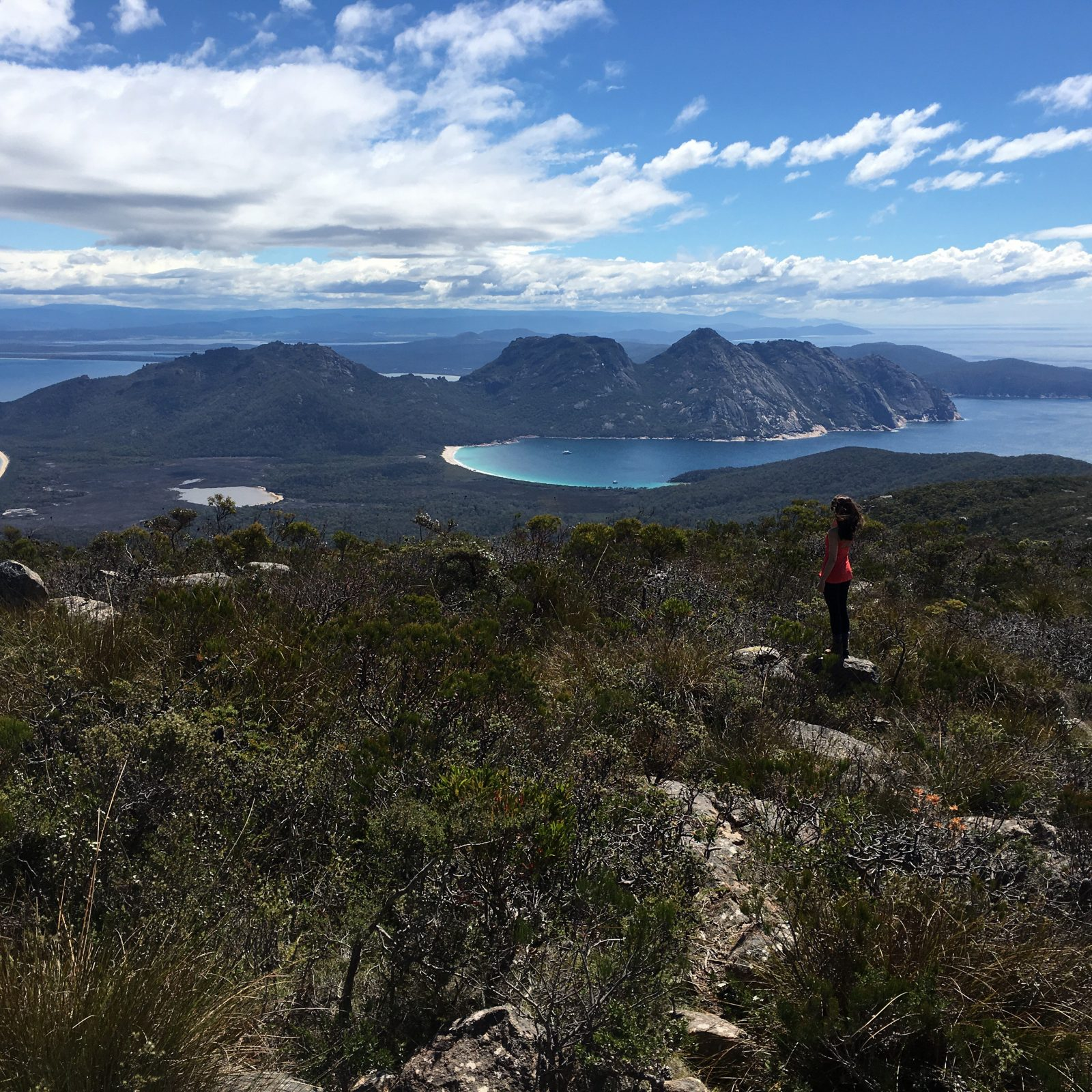 Views from Mt Graham on the Freycinet & Wineglass Bay pack-free walk by Life's An Adventure
