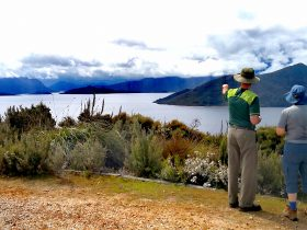 Guides be guiding on the Lake Pedder & South West Wilderness Walk with Life's An Adventure