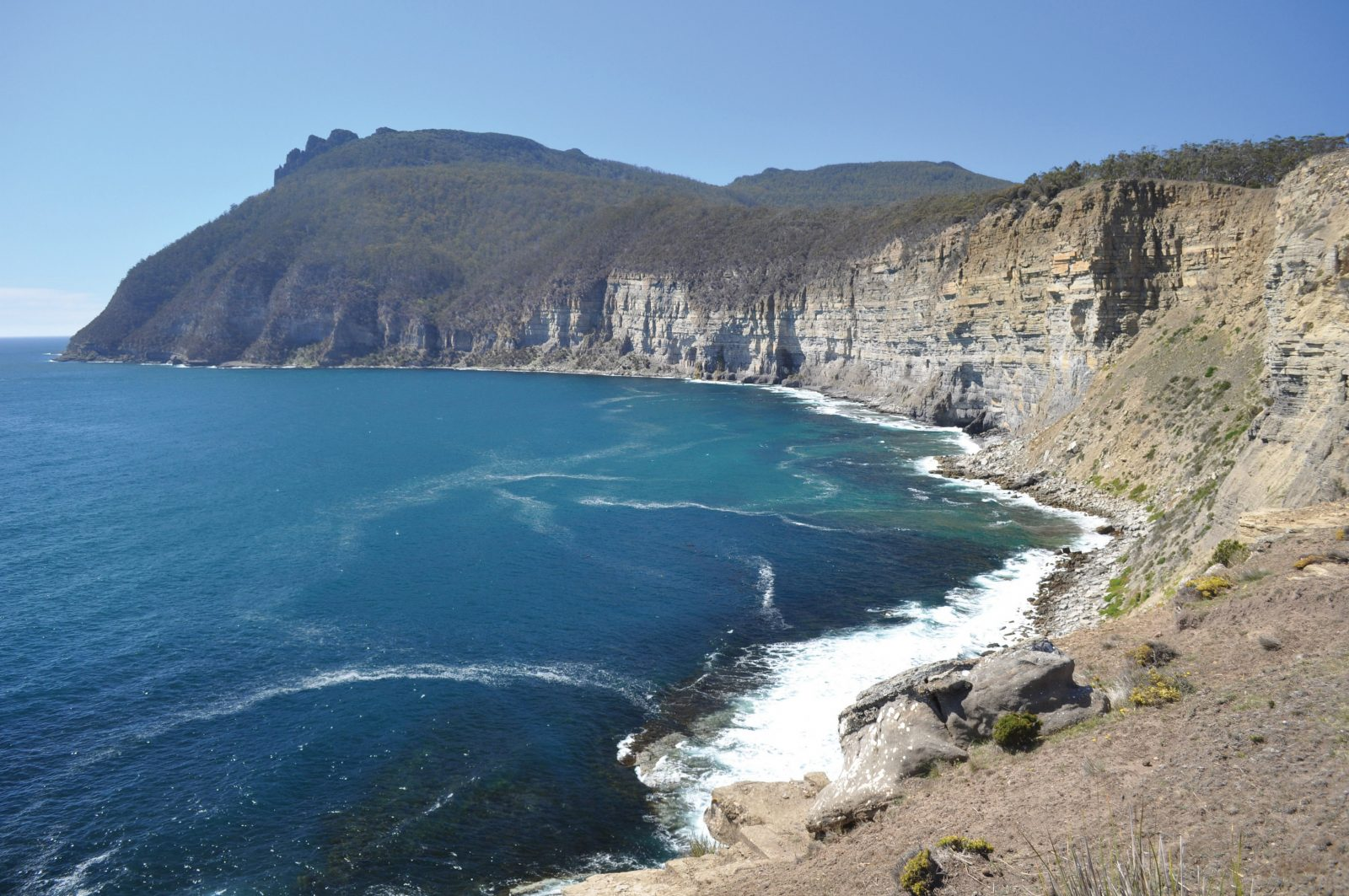Stunning cliffs on the Maria Island Pack-Free Walk from Life's An Adventure