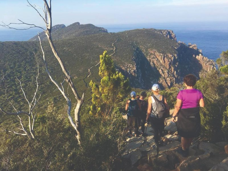 Walking to Cape Hauy