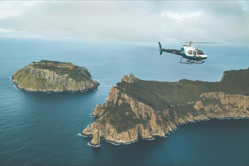 Cape Pillar is one of Australia's must do helicopter flight