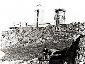 The 1833 Lighthouse with the 1888 Lighthouse under construction