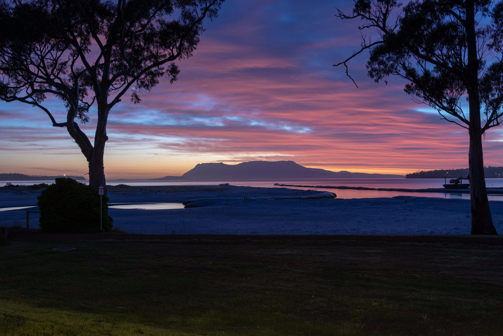 Lyenna: Sunrise over Maria Island viewed from the house