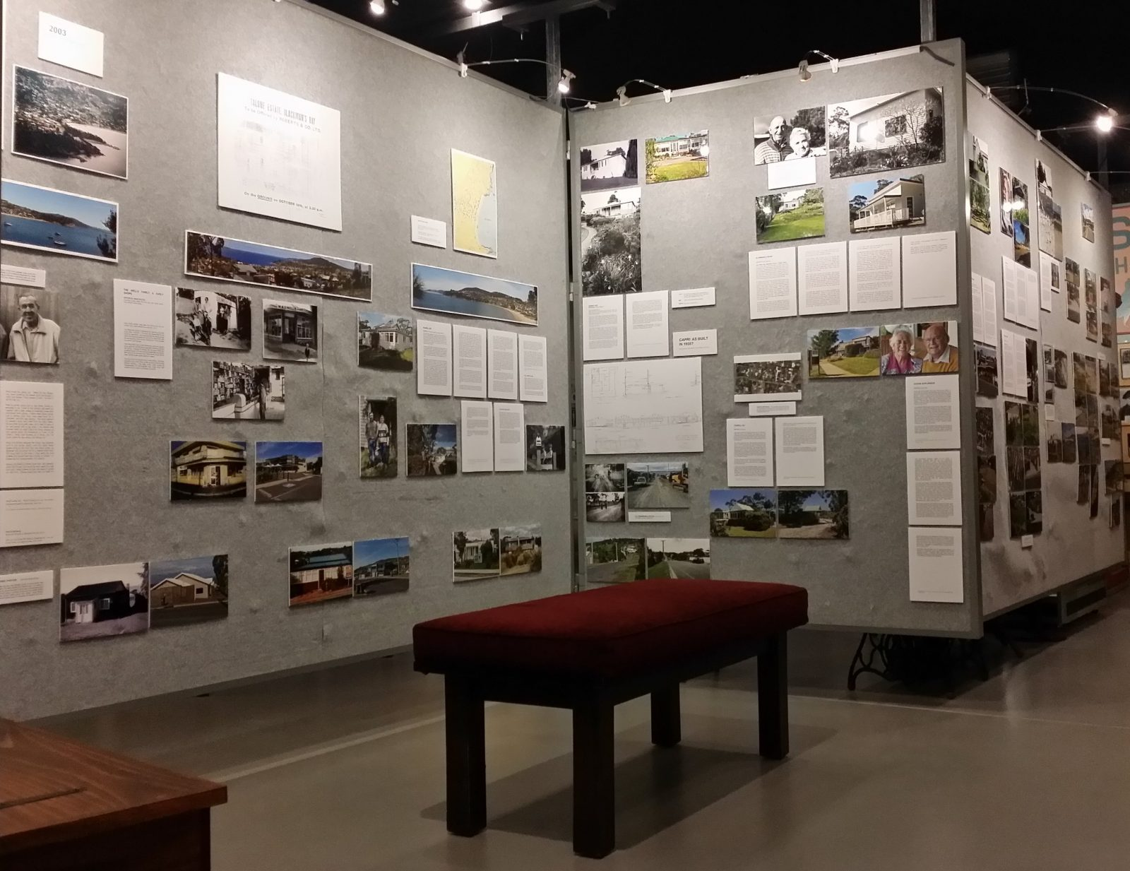 View of the display