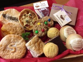 Savoury Pies, Apple Shortcakes, Biscuits, Sausage Rolls, Hot Chocolate on a stick