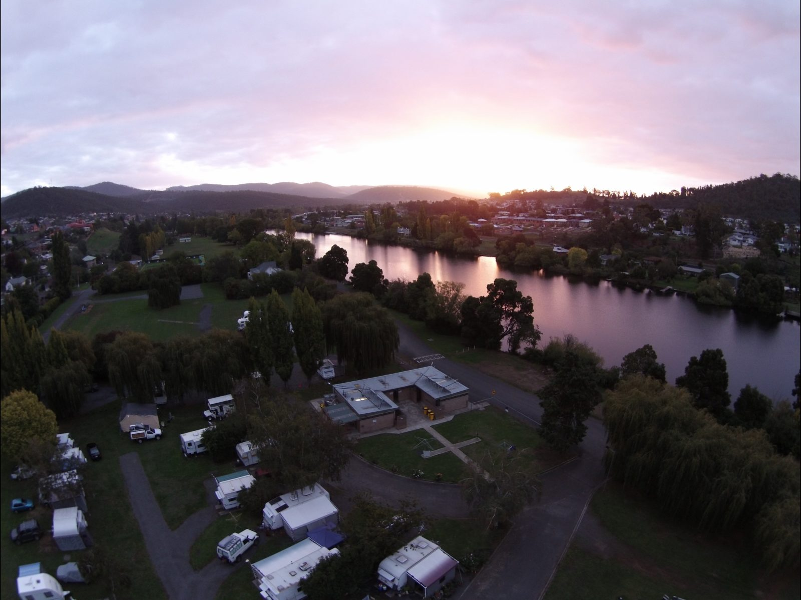 Sunset over the Derwent River