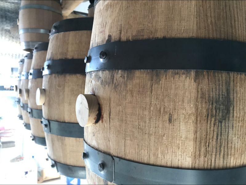 Casks of maturing whisky