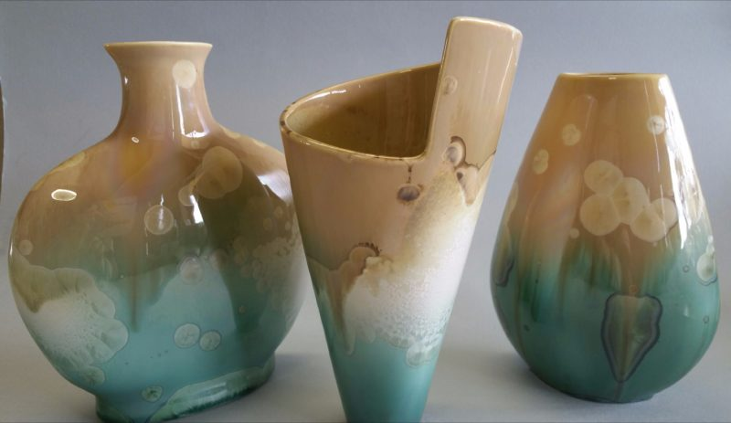 Crystalline glazes by Yulia Szalay