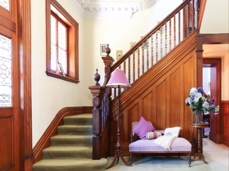 blackwood staircase in main foyer