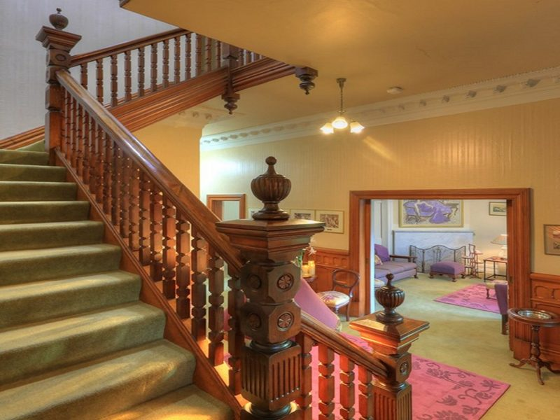 Staircase to upstairs ensuite rooms