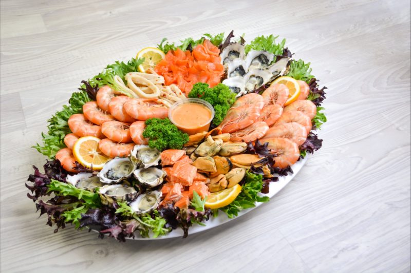 Fresh Tasmanian seafood platter