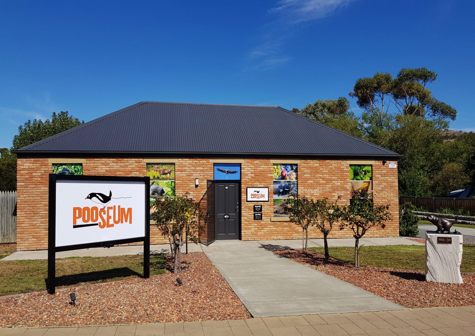 Pooseum, a new science museum about animal droppings in Richmond, Tasmania
