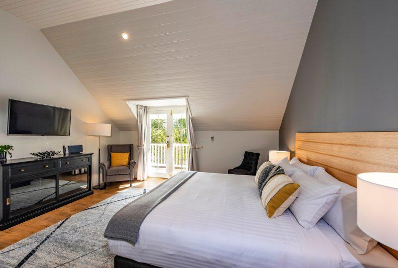 AH Beard king bed and luxury amenities