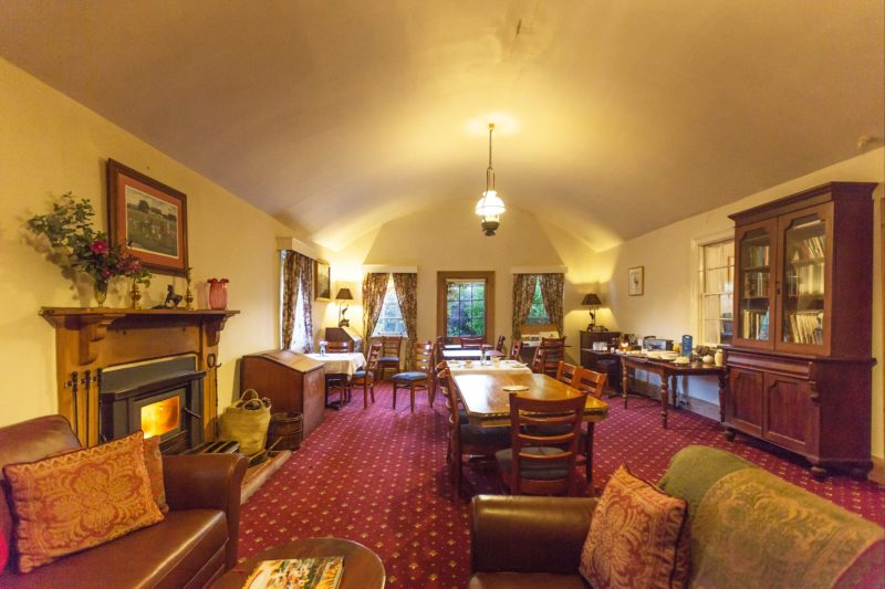 The dining room at The Racecourse Inn, Longford