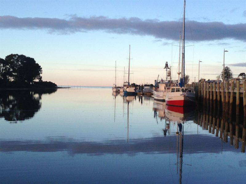 Wynyard Wharf at sunset