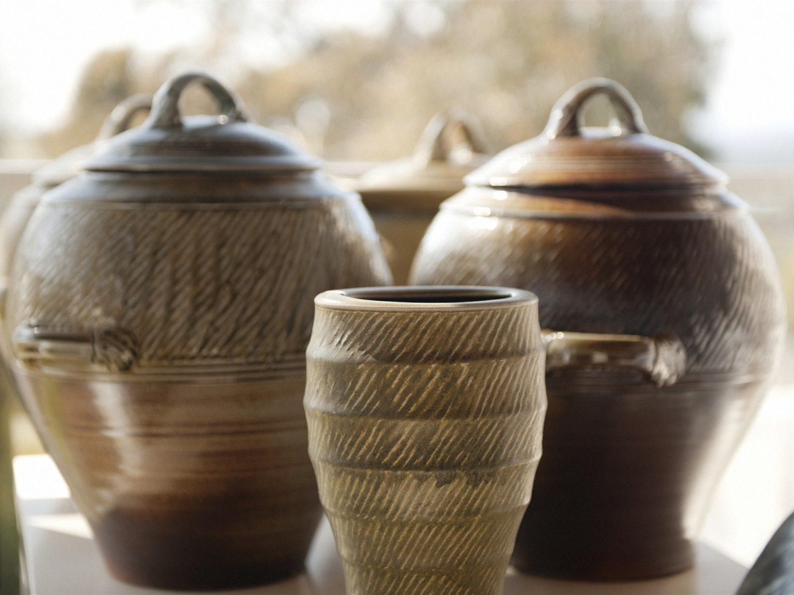 Storage pots in Showroom