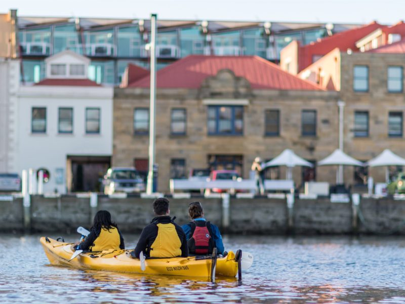 Kayaking Hobart Waterfront