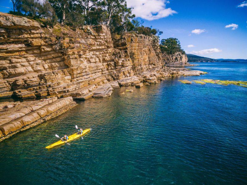 Kayaking Hobart's Cliffs